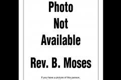 Rev. Benjamin Moses 1980 - 1986